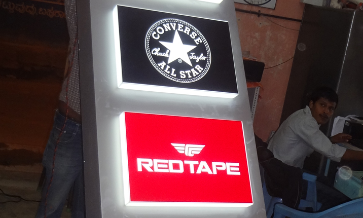 Acrylic box letter making : Acrylic sign board manufacturers in bangalore signage